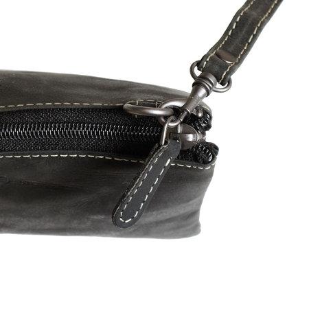 Klein Zwart Leren Tasje Of Portemonnee Tasje - XL
