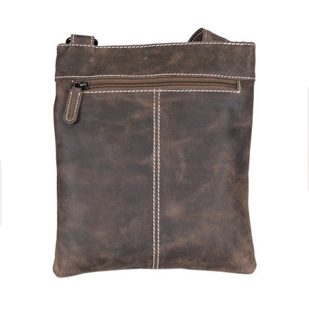 Leather Crossbody Bag - Shoulder Bag In The Color Cognac