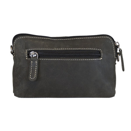 Black Leather Festival Crossbody Bag Or Bum Bag