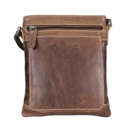Shoulder Bag - Crossbody Bag In Cognac Colored Leather