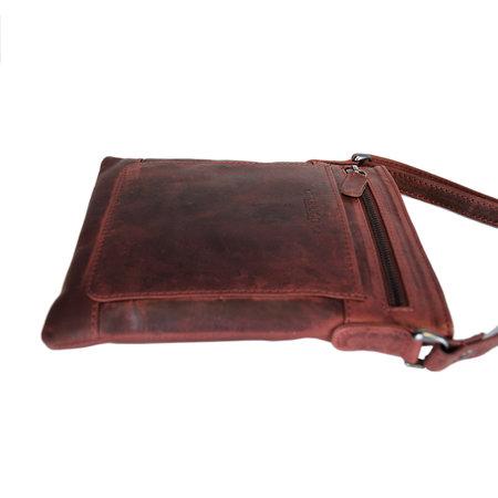 Shoulder Bag - Crossbody Bag In Red Leather