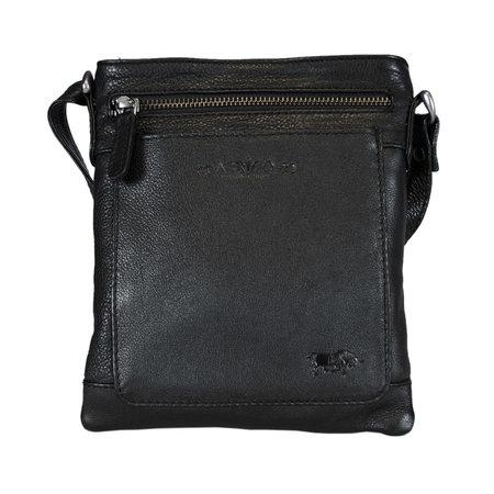 Black Leather Shoulder Bag - Crossbody Bag In Genuine Leather