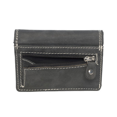 Ladies Wallet Made Of Black Leather, Small Model