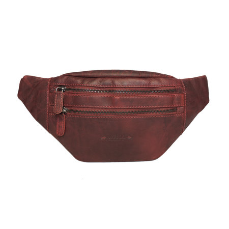 Leather Crossbody Bag - Festival Bag In Red Leather