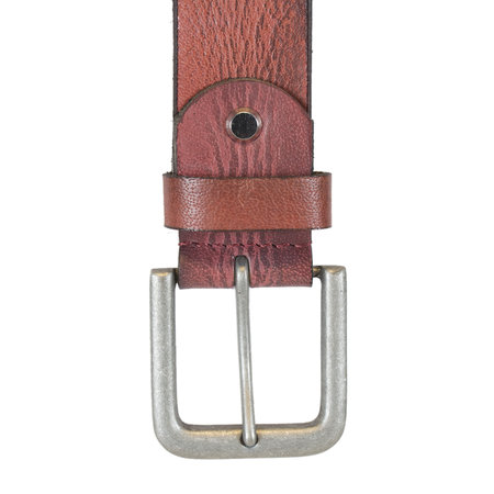 Leren Dames Riem Gemaakt Van Bordeaux Rood Leer - 4 cm Breed