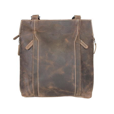 Leather Backpack Or Shoulder Bag Made Of Cognac Colored Leather