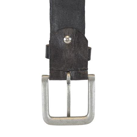 Leather Ladies Belt Made of Dark Grey Leather - 4 cm wide