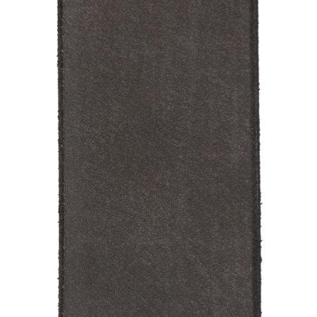 Leren Dames Riem Gemaakt Van Mat Zwart Leer - 4 cm Breed