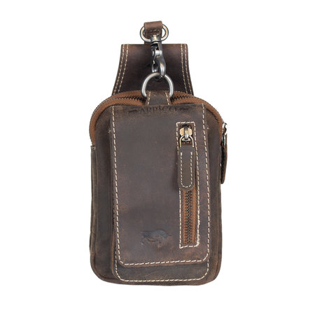 Fanny Pack - Belt Pouch In Leather In The Color Cognac