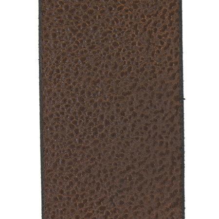 Leren Riem Gemaakt Van Kastanjebruin Leer - 4 cm Breed