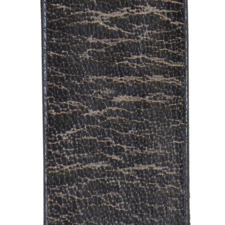 Leren Dames Riem Gemaakt Van Jeans Grijs Leer - 4 cm Breed