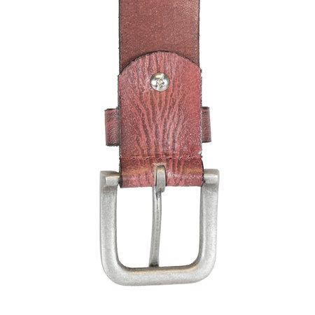 Bordeaux Rode Leren Riem Van 3.5 cm Breed