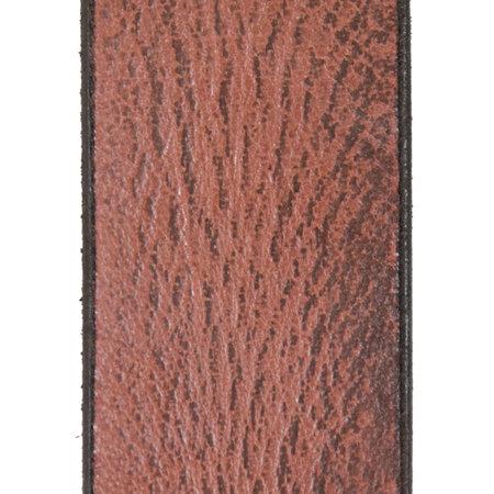 Bordeaux Rode Leren Riem Gemaakt Van Echt Leer - 3.5 cm Breed