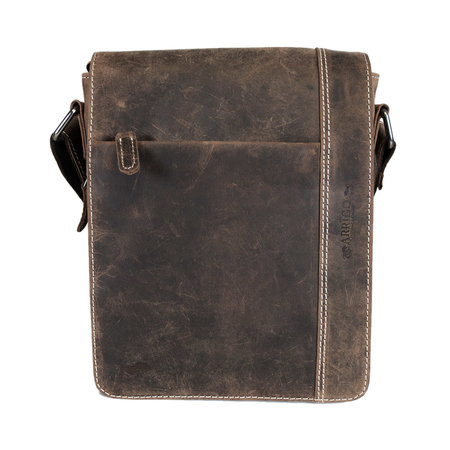 Brown Leather Shoulder Bag With Space For Your Tablet