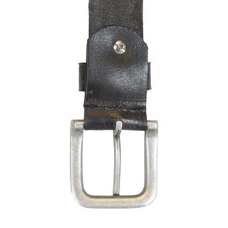 Dark Grey Leather Ladies Belt Made Of Genuine Leather - 3.5 cm Wide