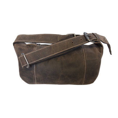 Large Belt Bag For Men Or Ladies Made Of Brown Leather