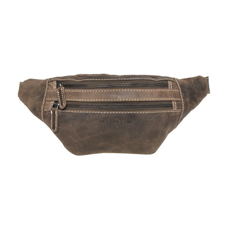 Leather Crossbody Bag - Pouch Bag In Dark Brown Leather