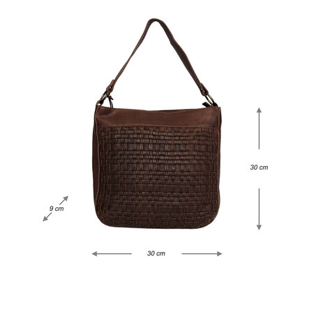 Hobo Bag - Shoulder Bag For Women In Brown Braided Leather