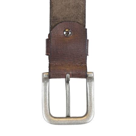 Donkerbruine Leren Riem Van Echt Leer - 3.5 cm Breed