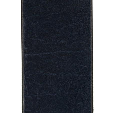 Donkerblauwe Leren Riem Gemaakt Van Echt Leer - 3.5 cm Breed