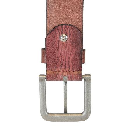 Leren Heren Riem Gemaakt Van Bordeaux Rood Leer - 4 cm Breed