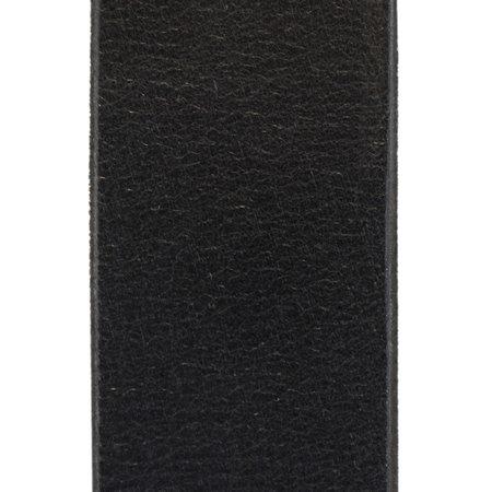 Zwarte Leren Riem - 3.5 cm Brede Riem Van Echt Leer