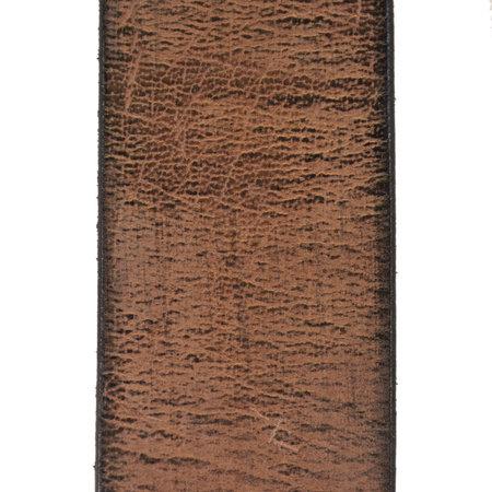Leren Heren Riem Gemaakt Van Bruin Leer - 4 cm Breed