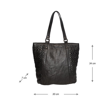 Black Shopper For Women From Braided Leather