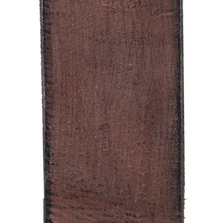 Leren Heren Riem Gemaakt Van Donkerbruin Leer - 4 cm Breed