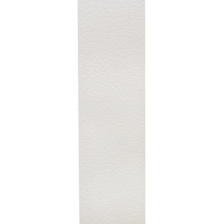 Riem Wit Leer Met Een Zilveren Gesp, 3 cm Breed