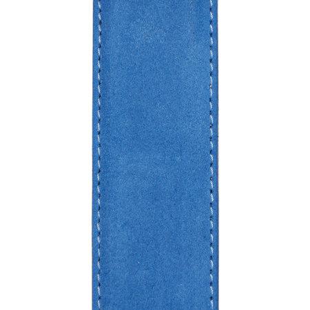 Suede Riem Blauw • Met Een Stijlvolle Zilverkleurige Gesp