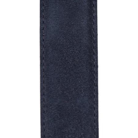 Suede Riem Donkerblauw • Met Een Stijlvolle Zilverkleurige Gesp