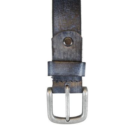 Leren Riem Gemaakt Van Jeans Blauw Leer - 3 cm Breed