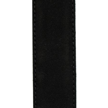 Suede Riem Zwart • Met Een Stijlvolle Zilverkleurige Gesp