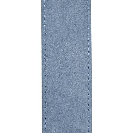 Suede Riem Lichtblauw • Met Een Stijlvolle Zilverkleurige Gesp