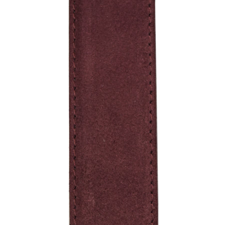 Suede Riem Bordeaux Rood • Met Een Stijlvolle Zilverkleurige Gesp