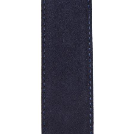 Suede Riem Paarsblauw • Met Een Stijlvolle Zilverkleurige Gesp