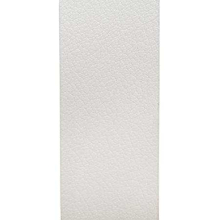Riem Wit Leer Met Een Zilveren Gesp, 4 cm Breed
