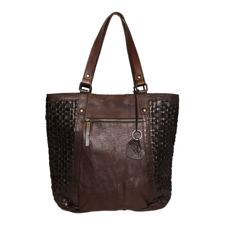 Brown Shopper Bag For Women From Braided Leather