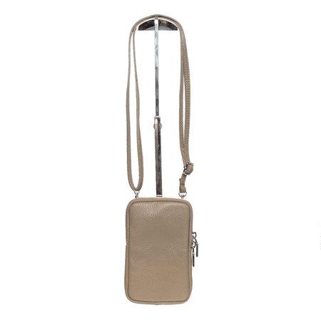 Leren Telefoontasje Met Een Verstelbare Schouderband