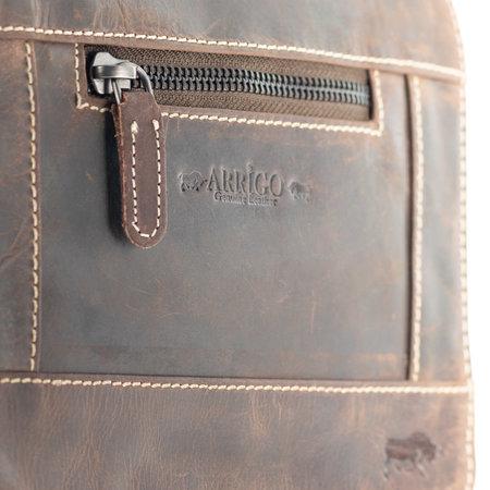 Donkerbruin Leren Crossbody Schoudertas - Compact Model