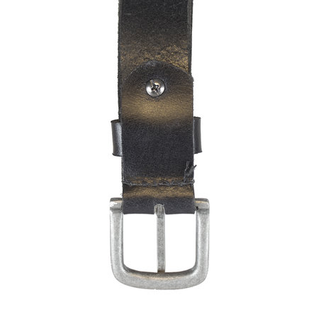 Zwarte Leren Riem - 3 cm Brede Riem Van Echt Leer
