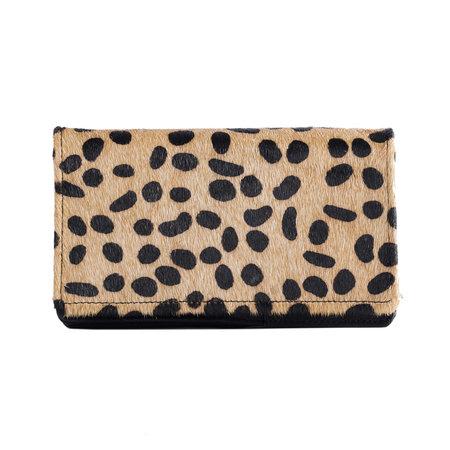 Leren Dames Portemonnee Met Een Cheetah Print