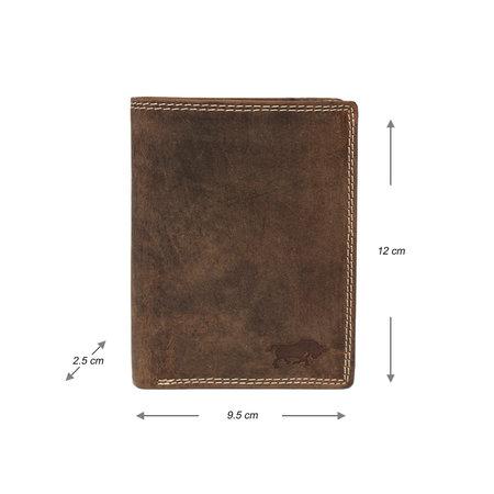 Heren Portemonnee Met RFID Van Lichtbruin Leer