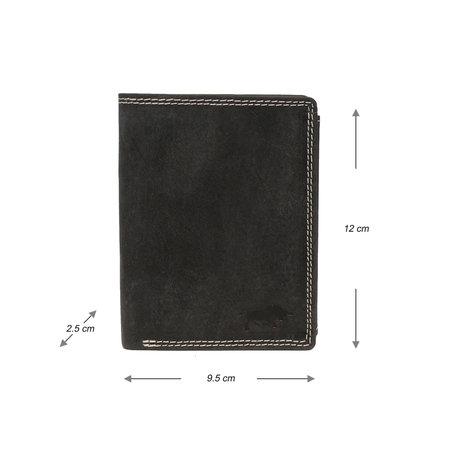 Heren Portemonnee - Billfold Model Van Zwart Leer