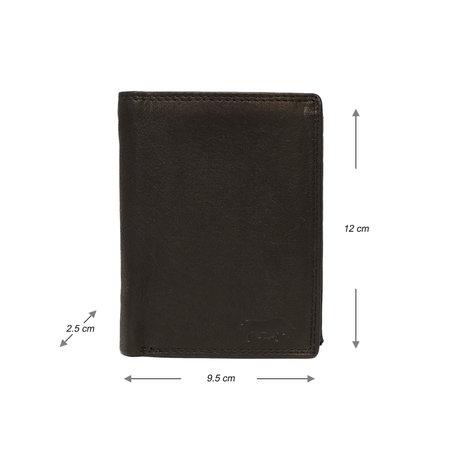 Heren Portemonnee Van Zwart Leer Met RFID