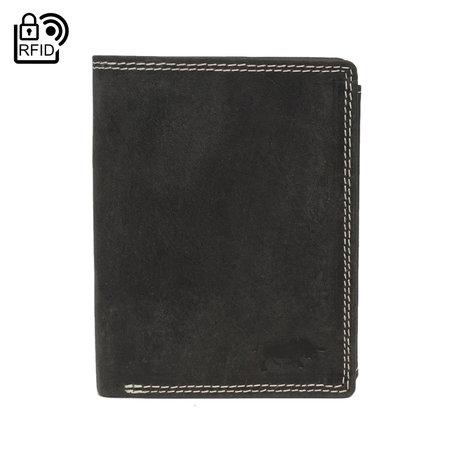 Heren Portemonnee Met RFID Van Zwart Leer