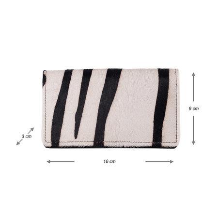 Leren Dames Portemonnee Met Een Zebra Print