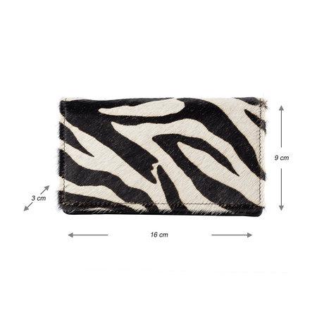Leren Portemonnee Dames Met Een Zebra Print