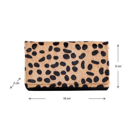 Dames Portemonnee Van Leer Met Een Cheetah Print